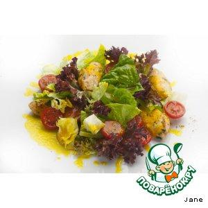 Рецепт: Салат с куриной грудкой и томатами черри