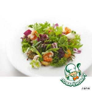 Рецепт: Салат картофельный с тигровыми креветками