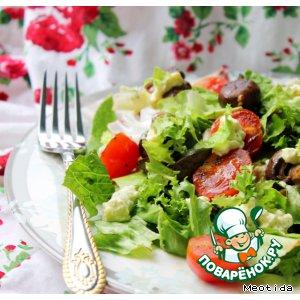 Рецепт: Теплый салат Проще некуда