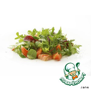 Рецепт: Салат с лососем и томатами