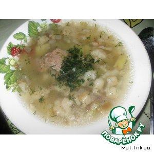 """Рецепт: Суп с говядиной """"Детский"""""""