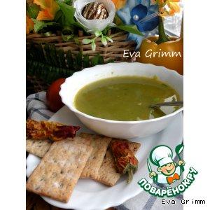 Рецепт: Суп из брокколи на копченой курице