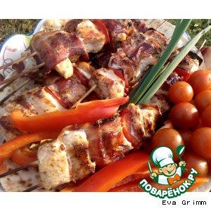 Рецепт: Куриная лента для пикника на хрустящей лепешке