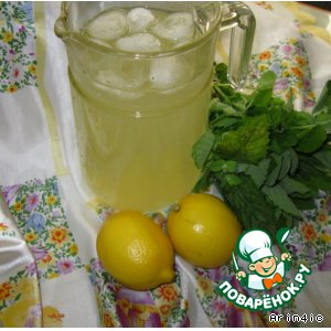 Рецепт: Мятный лимонад
