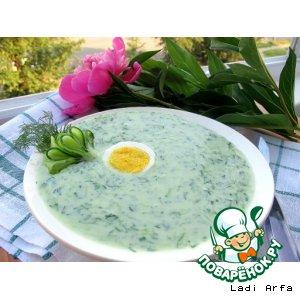 Рецепт: Огуречно-имбирный суп Свежесть