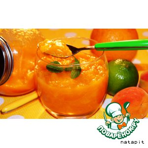 Рецепт: Манго-абрикосовый конфитюр для выпечки