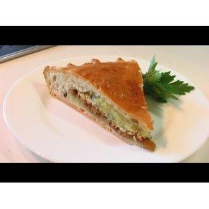 Рецепт: Пирог с лисичками и картошкой