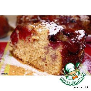 Рецепт: Дрожжевой пирог со сливой