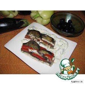 Рецепт: Пирог из баклажанов с фетой