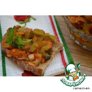 Рецепт: Овощная икра из огурцов