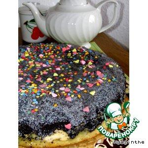 Нежный маково-творожный пирог – кулинарный рецепт