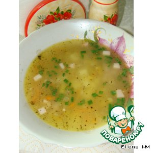 Рецепт: Суп со спаржевой фасолью