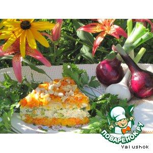 Рецепт: Морковный пирог с курицей Завтрак на траве