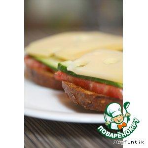 Рецепт Бутерброд полезный, овощной с сыром