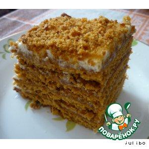 Рецепт: Торт медовый Ангарский