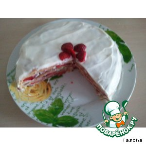 "Рецепт: Торт на скорую руку ""Клубничка"""