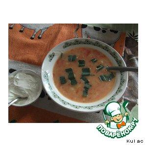 Рецепт: Суп-пюре из свежих помидоров