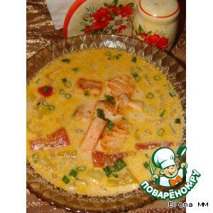 Рецепт: Сливочный суп с сeмгой