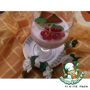 """Рецепт: Кефирно-сливочный десерт  """"Смородинка"""""""