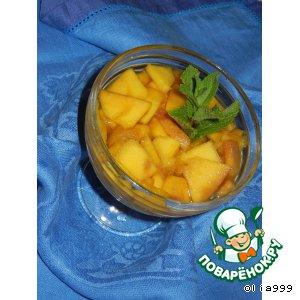Рецепт: Манго в имбирно-мятном сиропе