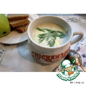 Рецепт: Сладкий суп-пюре с яблоком и кабачком