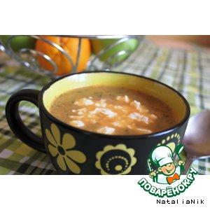 Рецепт Суп-пюре из печeных баклажанов и помидоров