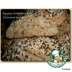 Рецепт: Булочки пшенично-ржаные с отрубями Сплошная польза