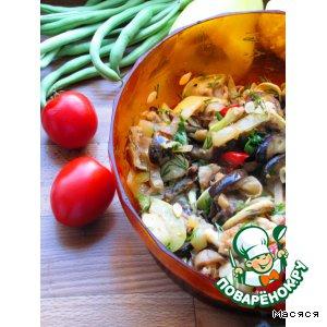 """Рецепт: Салат-закуска из  маринованных овощей """"Летний микс"""""""
