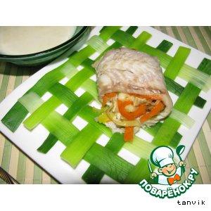 Рецепт: Рыбные рулетики с сыром Бри