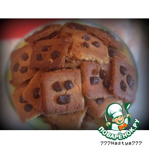 Рецепт Американское печенье (печенье с кусочками шоколада)