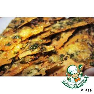 Рецепт: Сырные чипсы из лаваша
