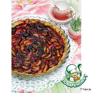 Рецепт Тарт с черными абрикосами и розмариновым сахаром