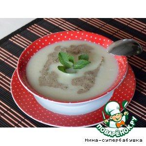 Рецепт: Суп-пюре из фенхеля со сливочной мятой