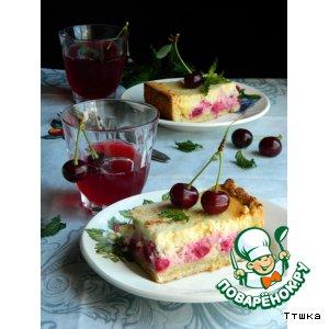 Рецепт Пирог с начинкой из вишни и творога