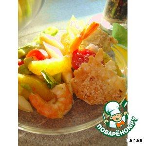 Рецепт: Спаржевый салат  с авокадо