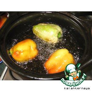 Рецепт: Жареные перцы на зиму