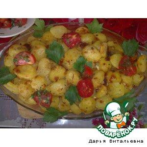 Рецепт: Запеченный картофель с мясом