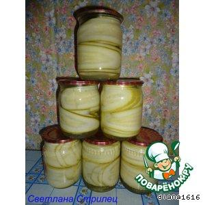 Рецепт: Заготовка из кабачков на зиму