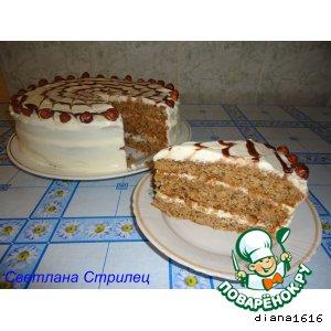 Рецепт: Ореховый торт «Каргополочка»