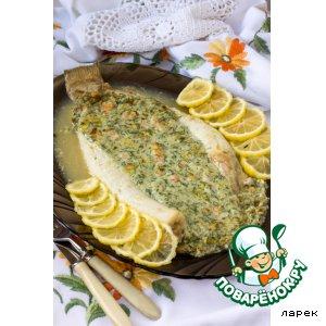Рецепт: Камбала, фаршированная креветками
