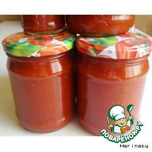 Рецепт: Домашний кетчуп Пряный
