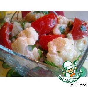 Рецепт: Салат из цветной капусты