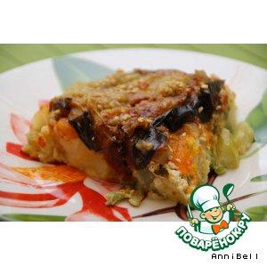 Рецепт: Овощная запеканка с баклажанами
