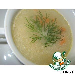 Рецепт: Гороховый суп с сыром