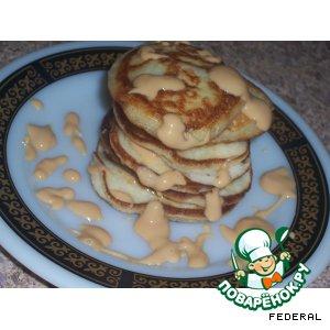 Рецепт: Оладьи с сыром рикотта и бананом