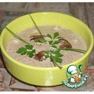 Рецепт: Суп-пюре из шампиньонов