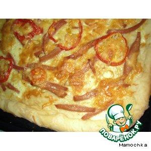 Рецепт: Пицца пикантная