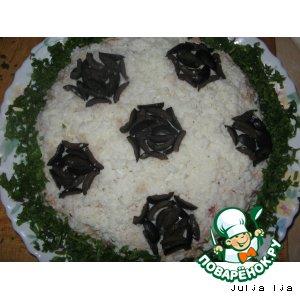 Рецепт: Салат из тунца Футбол
