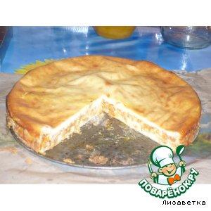 Рецепт: Пирог с капустой Вкуснотища