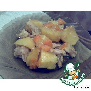 Рецепт: Картошка с курицей
